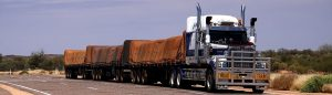 """Trailer truck used for driver licencing, and which is the header image of """"road rules"""" blog."""